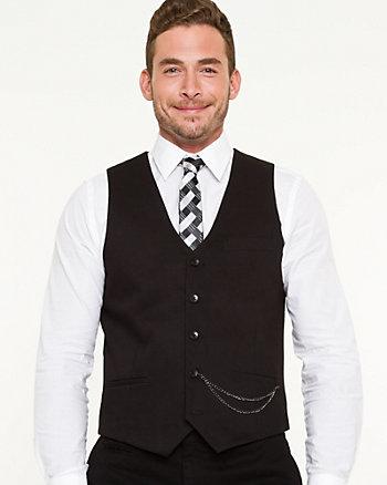 Tonal Pattern Contemporary Fit Vest
