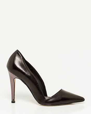 Italian-Made Leather Pointy-toe Pump