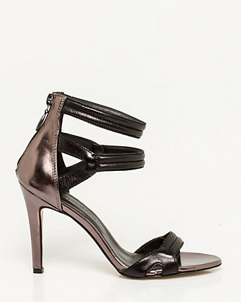 Italian-Made Metallic Leather Sandal