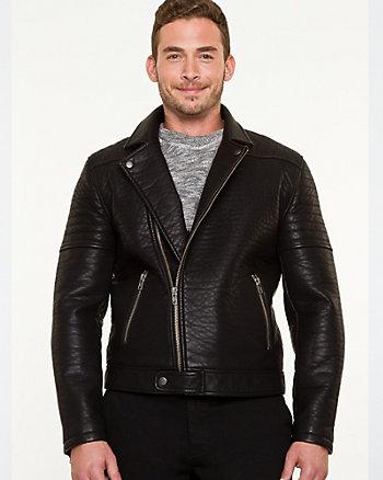 Leather-like Motorcycle Jacket