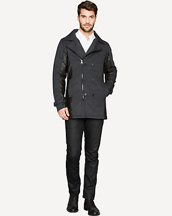 Cotton Slim Fit Peacoat
