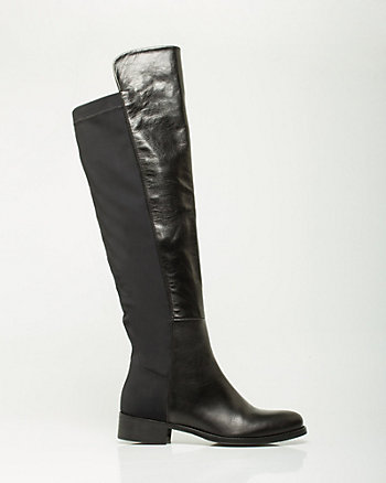Italian-Made Leather Over-the-Knee Boot