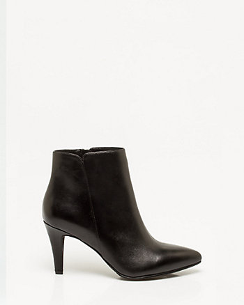 Leather Pointy Toe Bootie