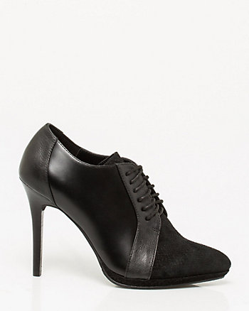 Leather Snake Embossed Shootie