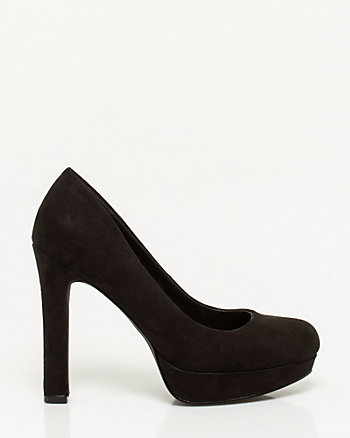 Suede-like Platform Pump