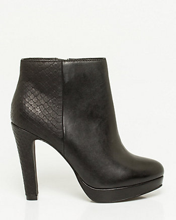 Leather Platform Ankle Boot