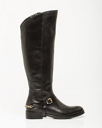 Italian-Made Leather Riding Boot