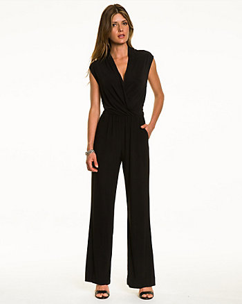 Crêpe de Chine Criss-Cross Jumpsuit