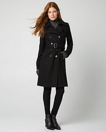 Melton Double Breasted Coat