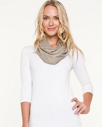 Glitter Knit Infinity Scarf