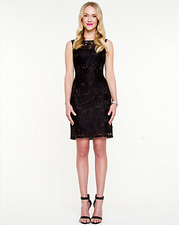 Corded Lace Illusion Dress