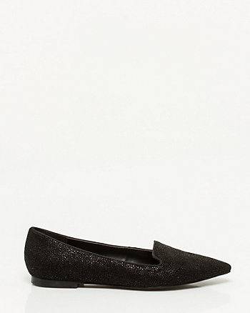 Stingray Leather Pointy Loafer