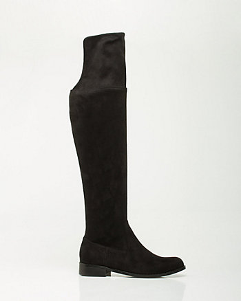 Stretch Microfiber Over-the-Knee Boot