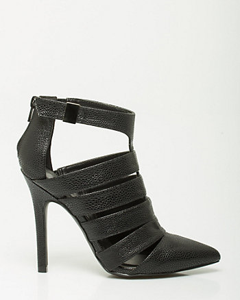 Stingray Leather-like Strappy Pump