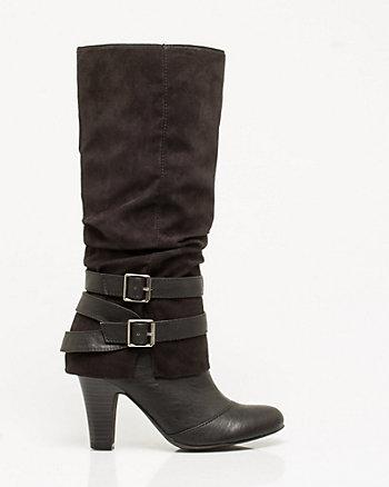 Leather-like Knee High Boot