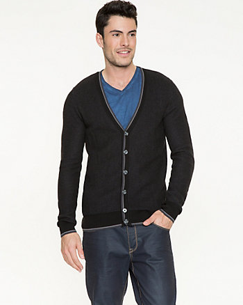 Knit V-neck Cardigan