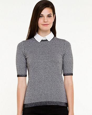Houndstooth Shirt & Sweater Fooler