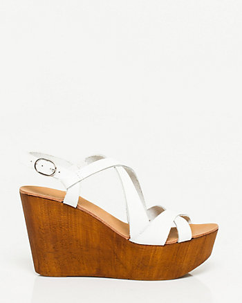 Italian-Made Strappy Wedge Sandal