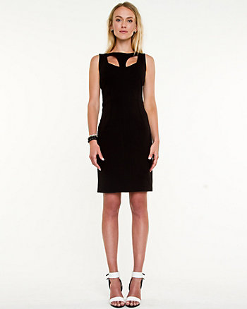 Ponte Knit Cut-Out Dress