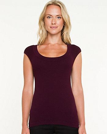 Rayon Blend Shell Sweater