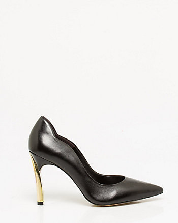 Brazilian-Made Leather Pointy Pump