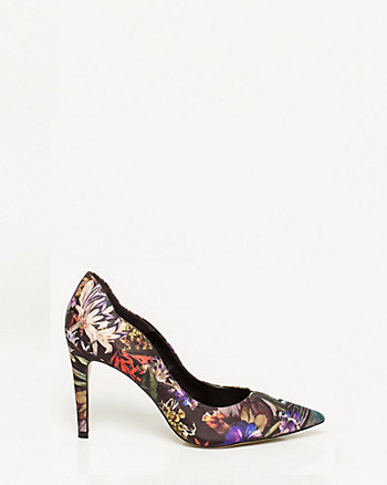 Brazilian-Made Floral Print Pointy Toe Pump
