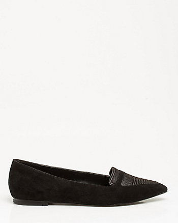 Leather Pointy Toe Loafer