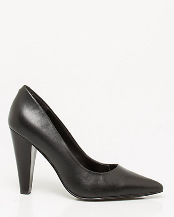 Leather Cone Heel Pump