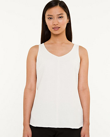 Knit V-neck Tank Top