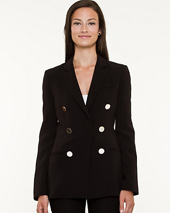 Double Weave Notch Collar Blazer