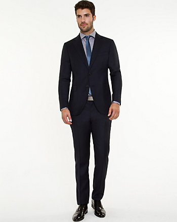 Italian Wool Two-Piece Slim Fit Suit