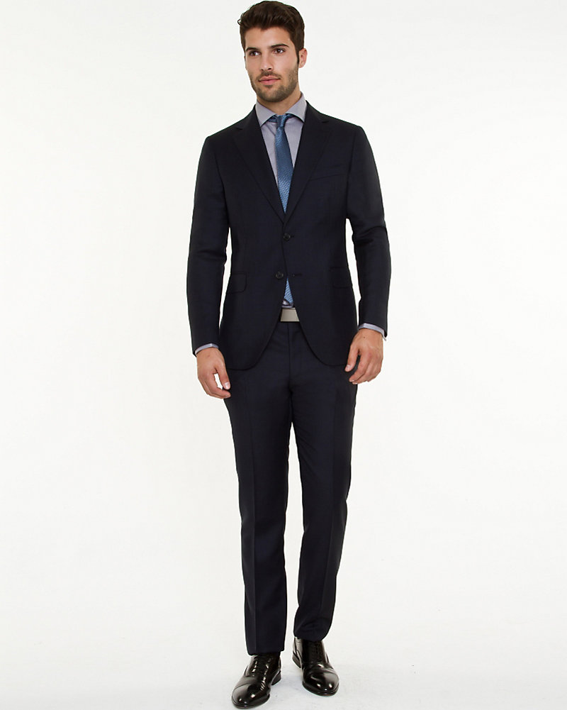 Le Château: Italian Wool Two-Piece Slim Fit Suit