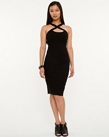 Halter Knit Fitted Dress