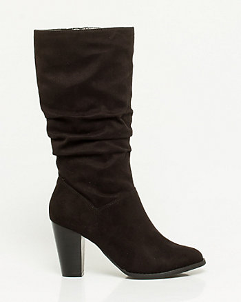 Microfibre Almond Toe Boot