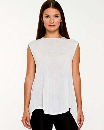 Jersey Knit Scoop Neck Top