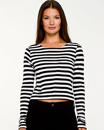 Stripe Knit Crop Top