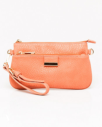 Leather-like Wristlet Clutch