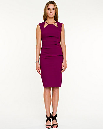 Woven Cut-out Fitted Dress