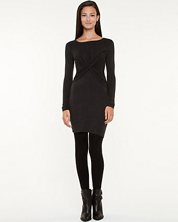 Knit Scoop Neck Fitted Dress
