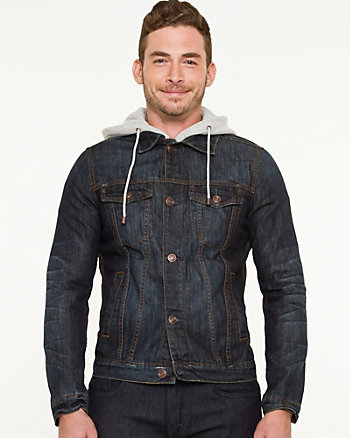 Cotton Denim Hooded Jacket