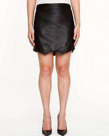 Leather-Like Snake Embossed Skirt