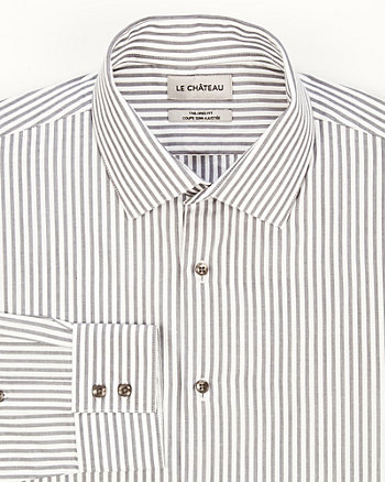 Cotton Stripe Tailored Fit Shirt