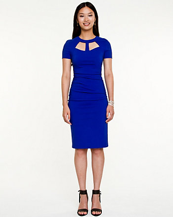 Bengaline Cut-out Fitted Dress