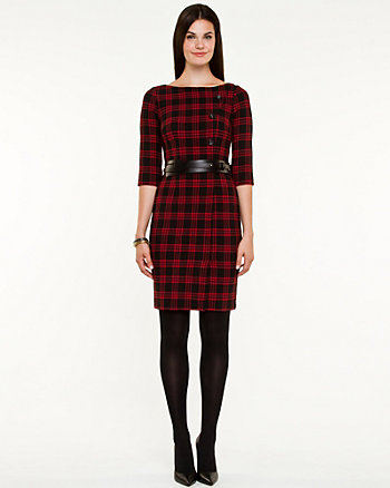 Double Weave Check Dress