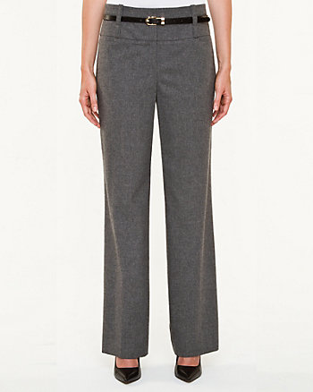 Wool Blend Flannel Flare Leg Pant