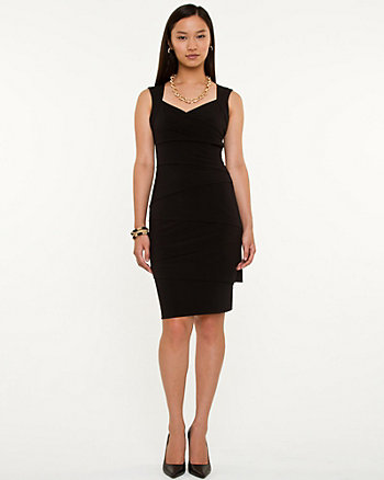 Banded Knit V-neck Dress