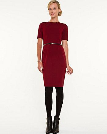 Geo Print 3/4 Sleeve Sheath Dress