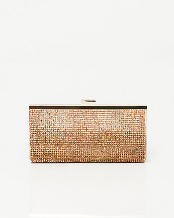 Satin Embellished Clutch