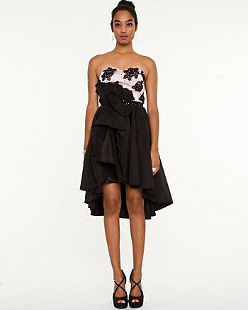 Taffeta Fit & Flare Dress