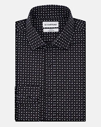 Stretch Cotton Jacquard Slim Fit shirt